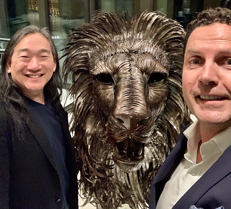 (Edward, the Lion and Heiner in Zürich on the 20th of June, 2019)